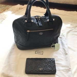 Tous Black Matching Bag and Wallet w/ dust bag